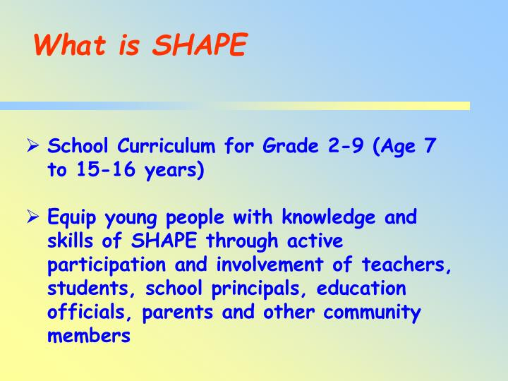 What is SHAPE
