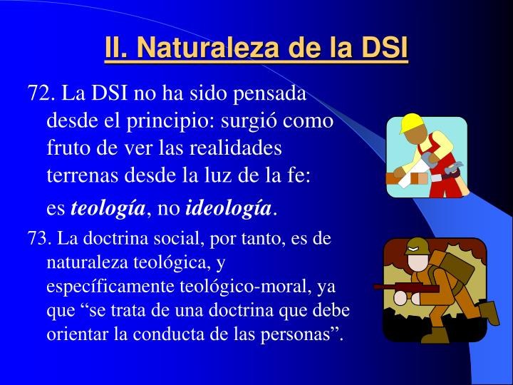 II. Naturaleza de la DSI