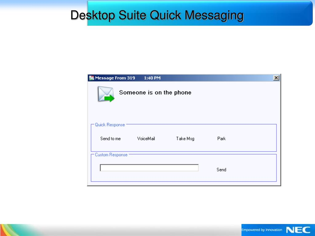 Desktop Suite Quick Messaging