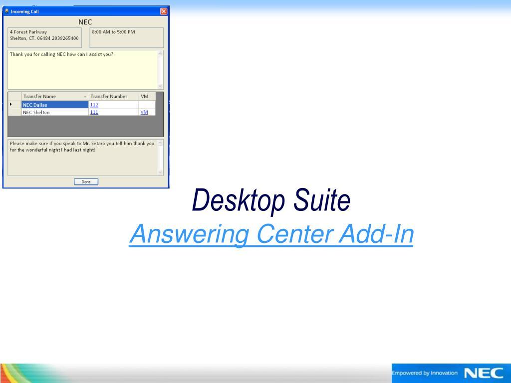 Desktop Suite