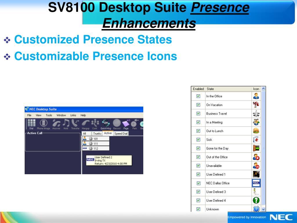 SV8100 Desktop Suite