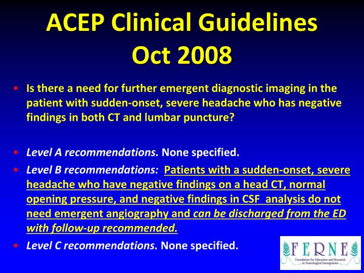 ACEP Clinical Guidelines
