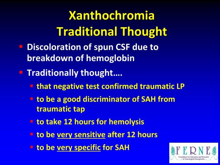 Xanthochromia