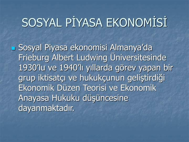SOSYAL PYASA EKONOMS
