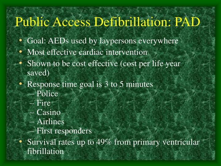 Public Access Defibrillation: PAD