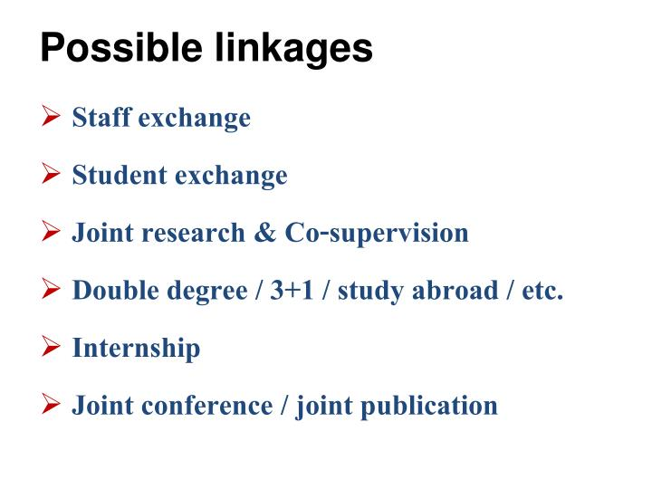 Possible linkages