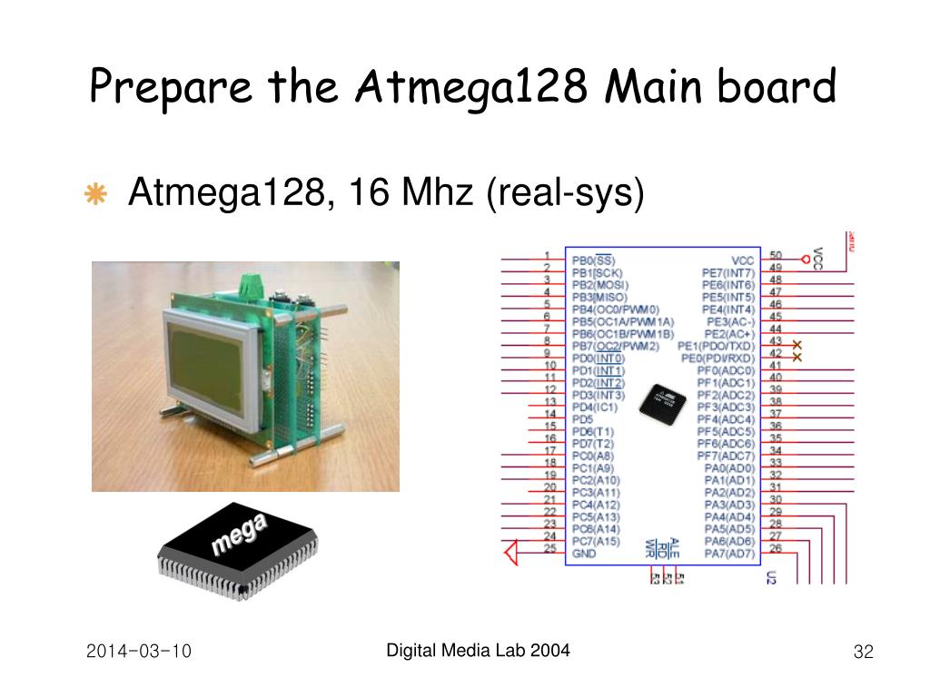 Prepare the Atmega128 Main board