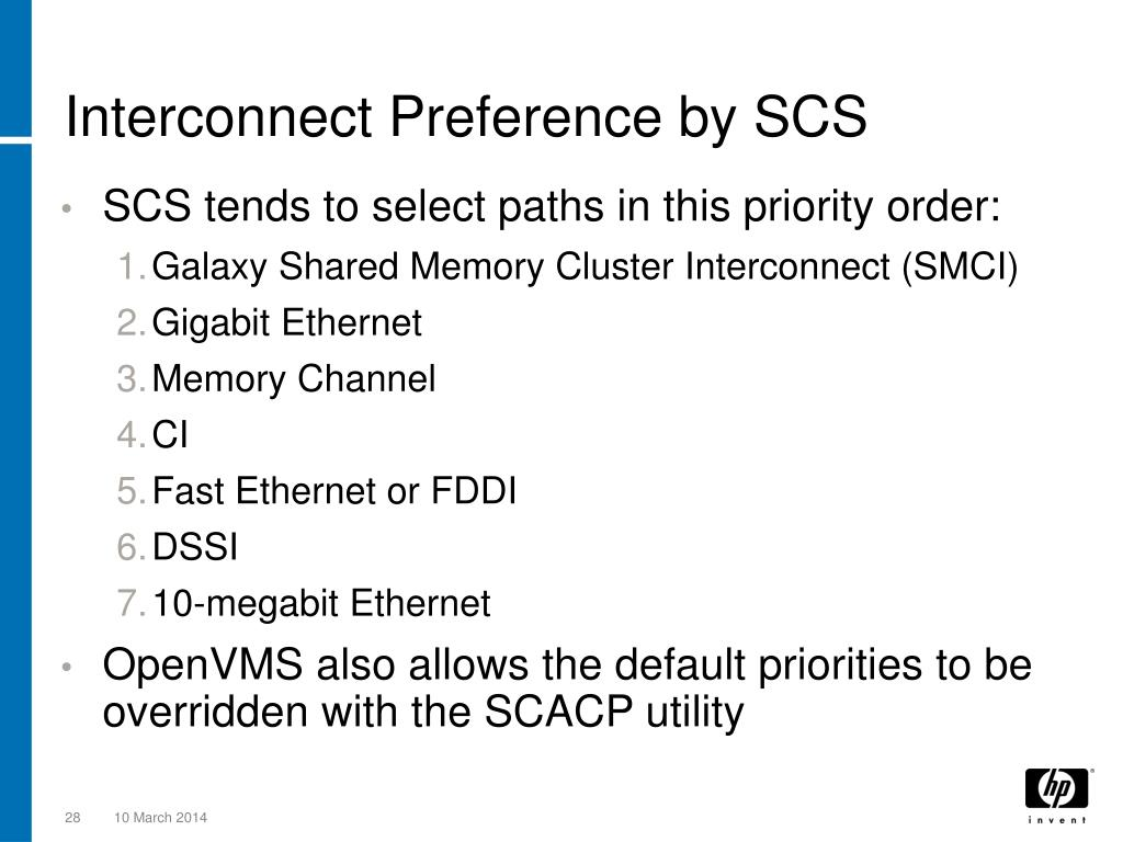 Interconnect Preference by SCS