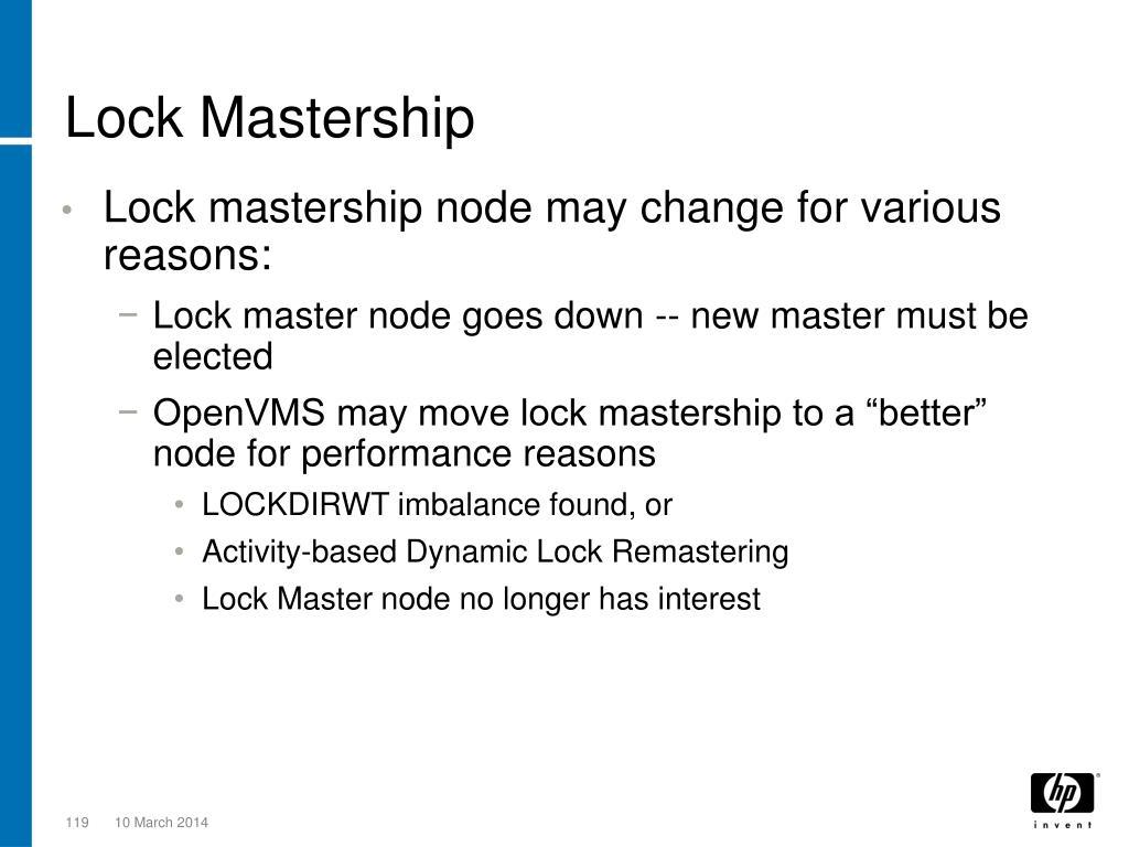 Lock Mastership