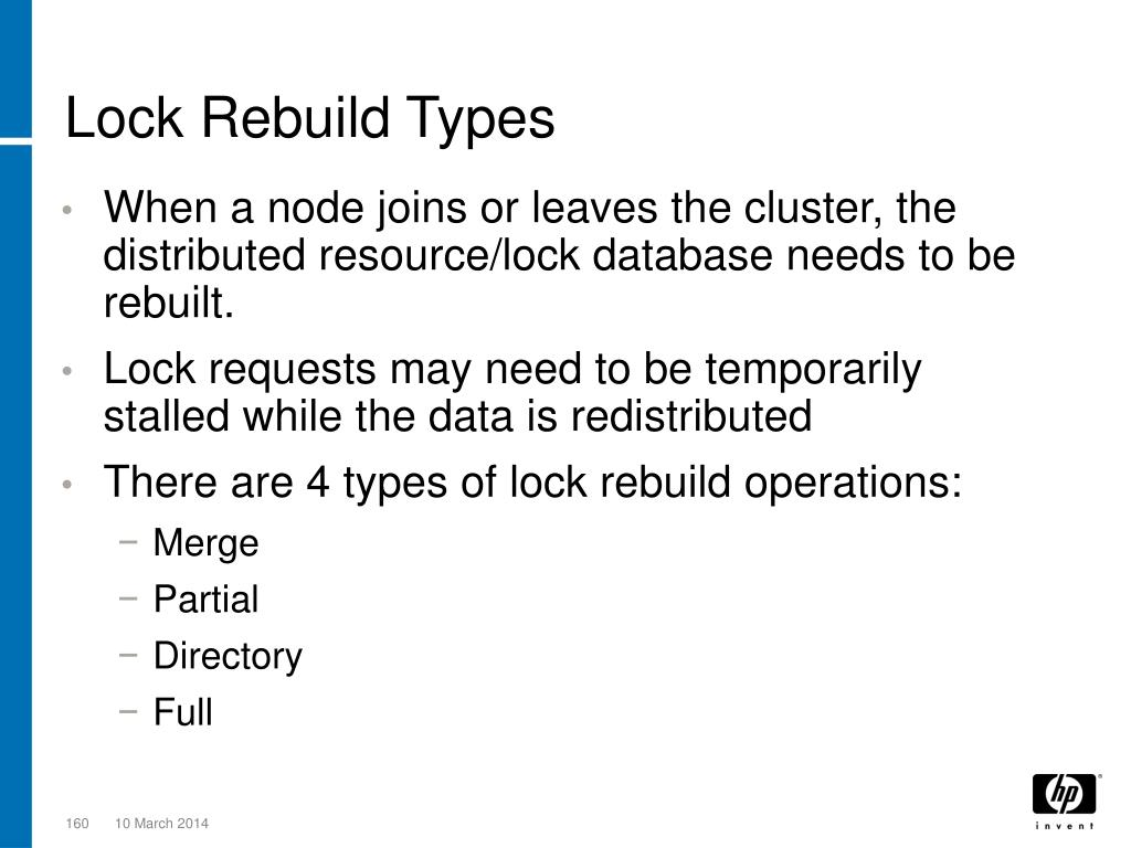 Lock Rebuild Types
