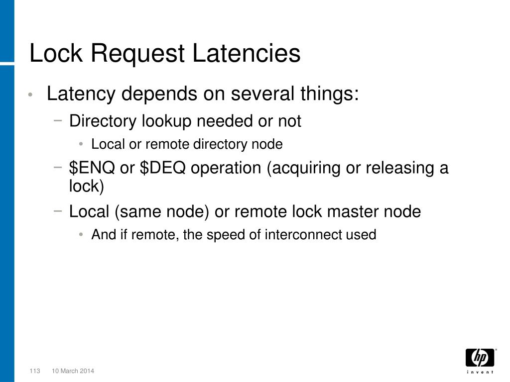 Lock Request Latencies