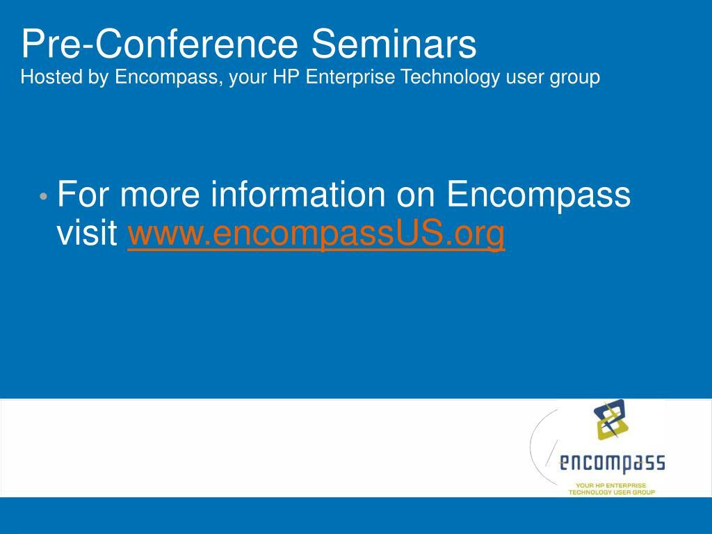 Pre-Conference Seminars