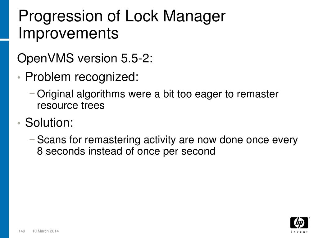 Progression of Lock Manager Improvements