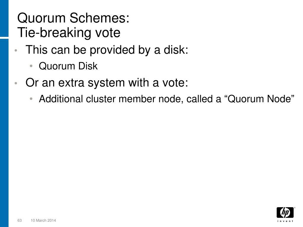 Quorum Schemes: