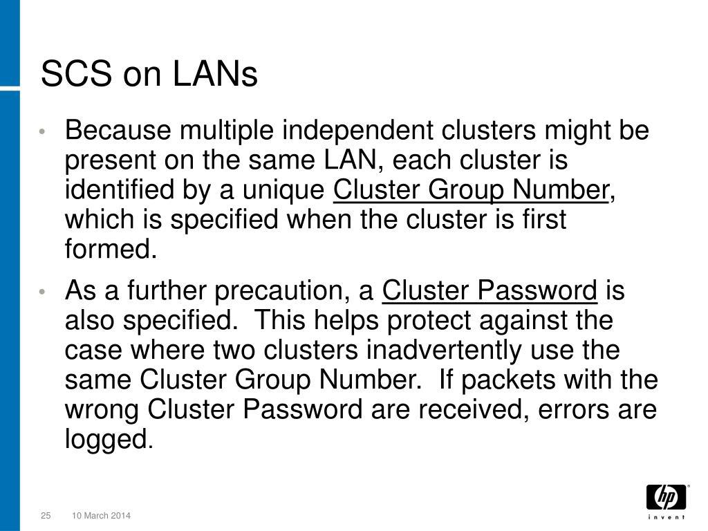 SCS on LANs