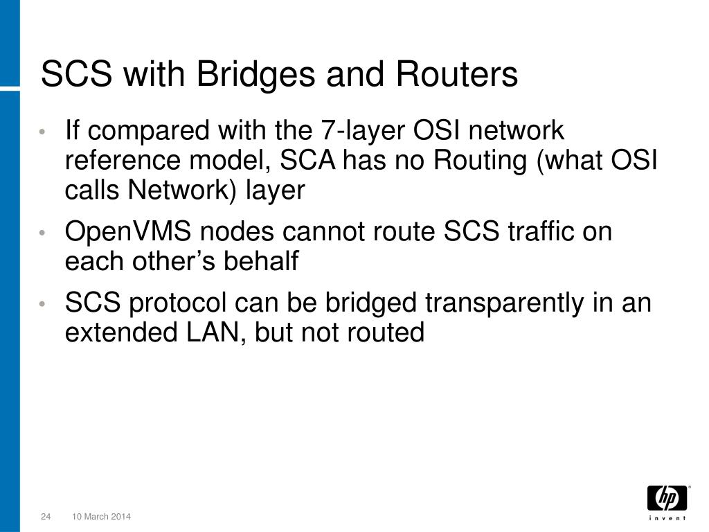 SCS with Bridges and Routers