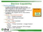 device capability