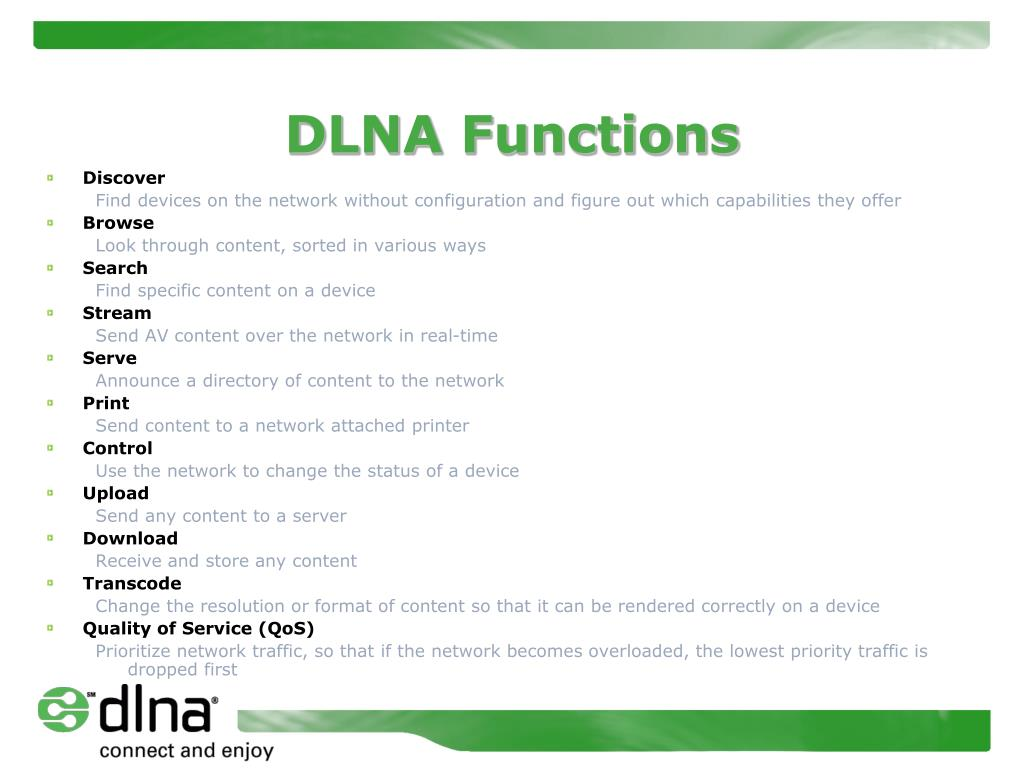DLNA Functions