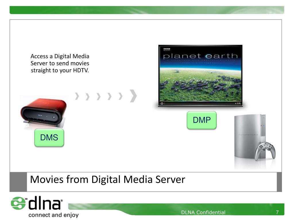 Access a Digital Media Server to send movies straight to your HDTV.