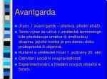 avantgarda