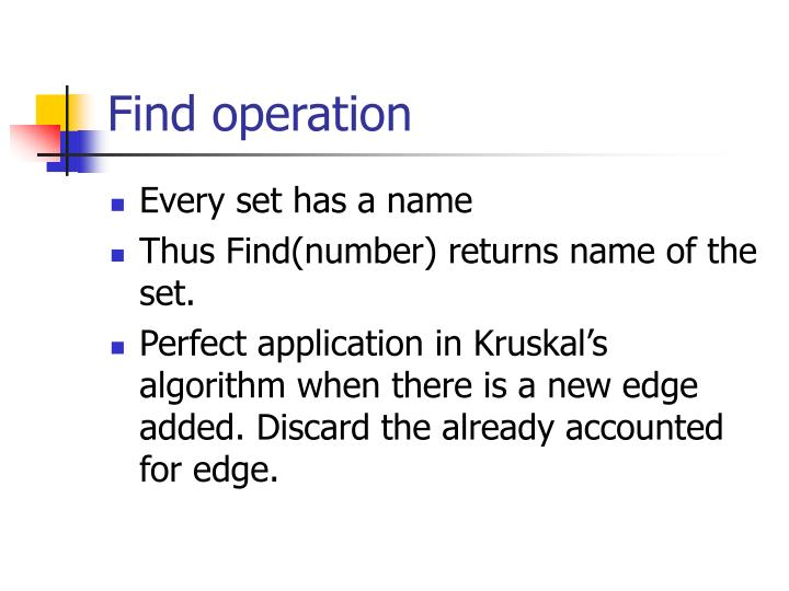Find operation