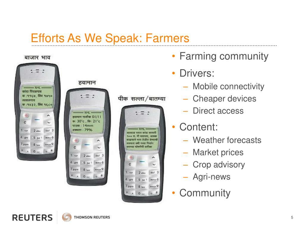 Efforts As We Speak: Farmers