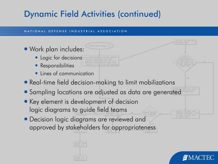 Dynamic Field Activities (continued)