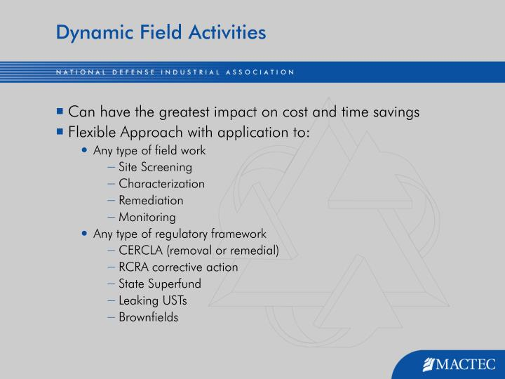 Dynamic Field Activities