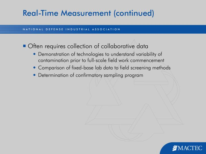 Real-Time Measurement (continued)