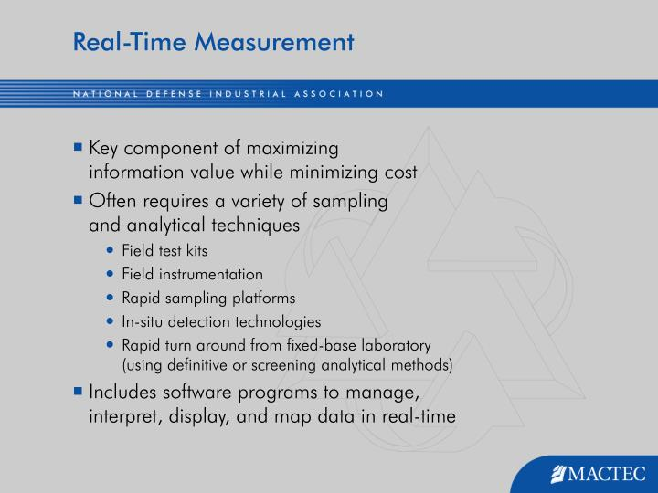 Real-Time Measurement