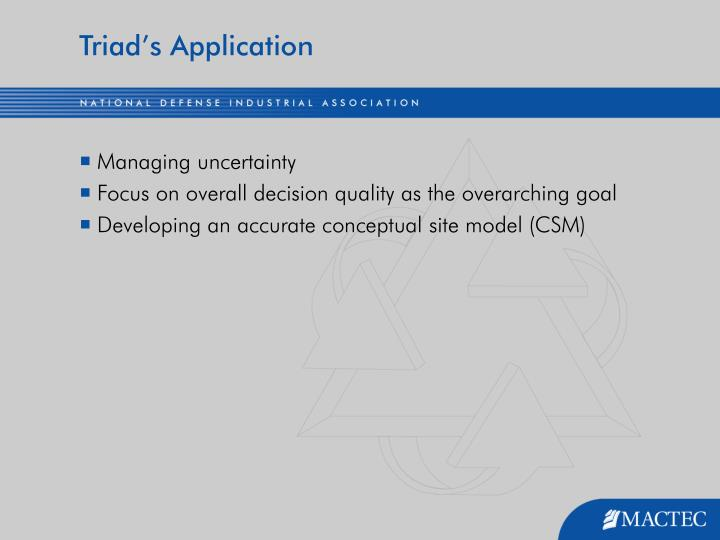 Triad's Application