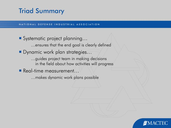 Triad Summary
