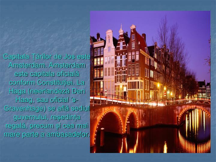 Capitala Țărilor de Jos este Amsterdam. Amsterdam este capitala oficială conform Constituției. La Haga (neerlandeză Den Haag, sau oficial 's-Gravenhage) se află sediul guvernului, reședința regală, precum și cea mai mare parte a ambasadelor.