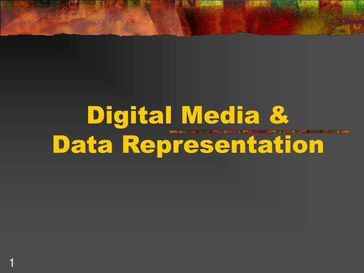 Digital media data representation