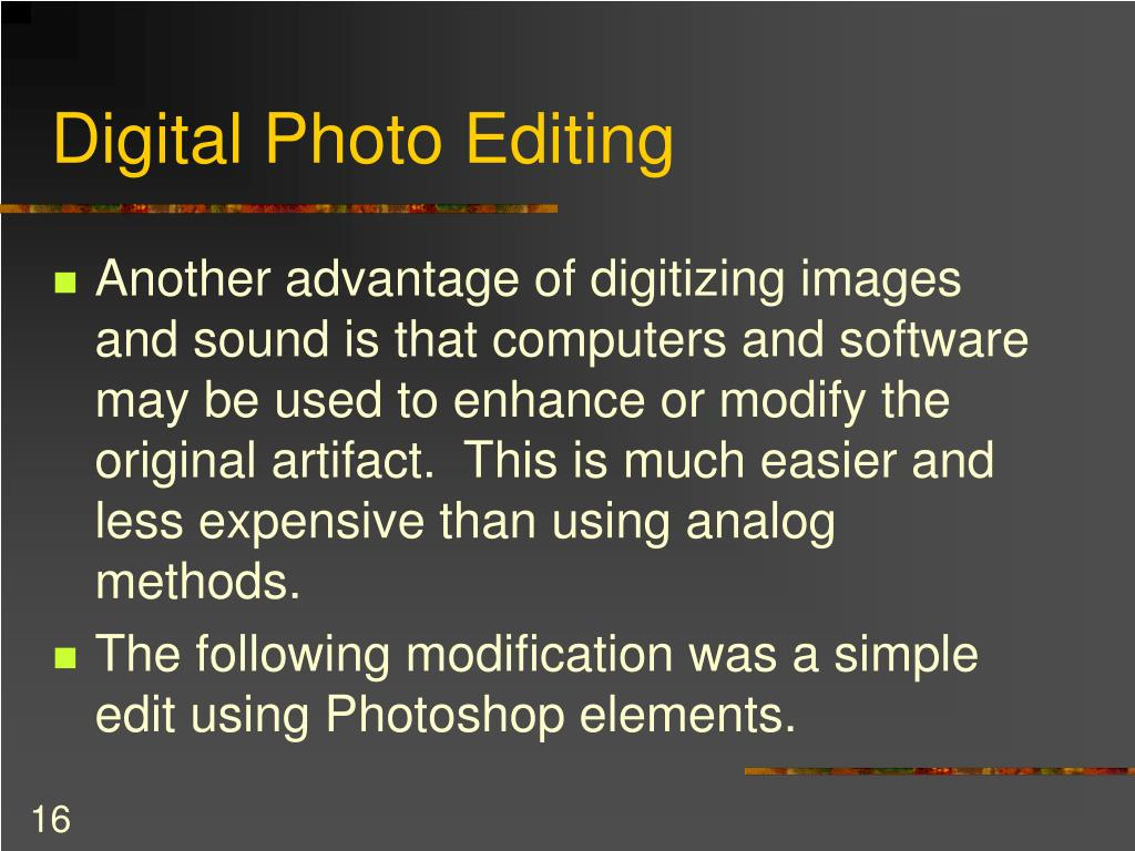 Digital Photo Editing