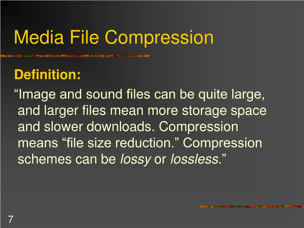 Media File Compression