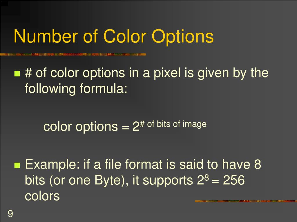 Number of Color Options