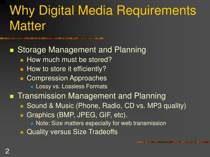 Why digital media requirements matter
