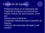 trasplantes de organos