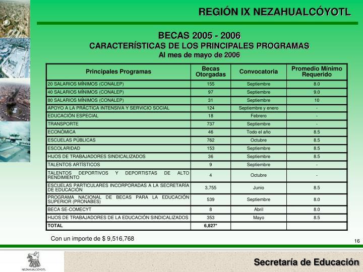 BECAS 2005 - 2006