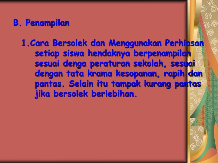 B. Penampilan