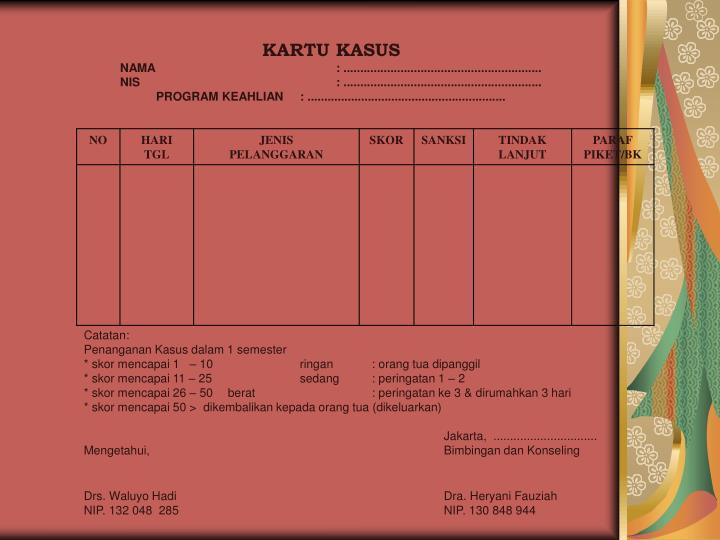 KARTU KASUS