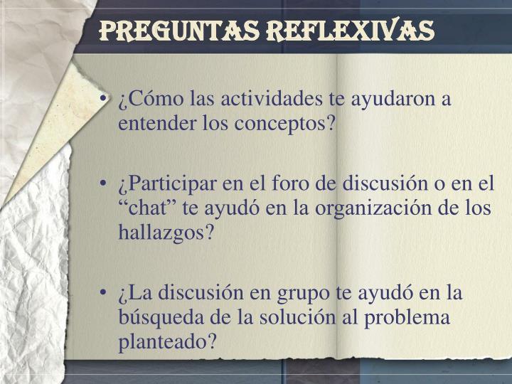 Preguntas Reflexivas