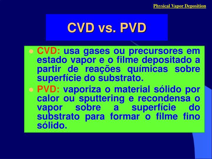 Physical Vapor Deposition