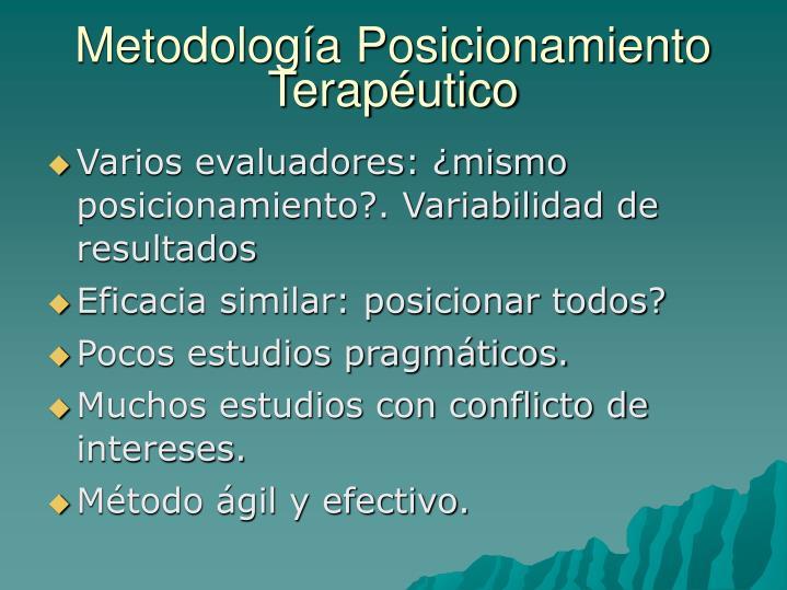 Metodología Posicionamiento Terapéutico