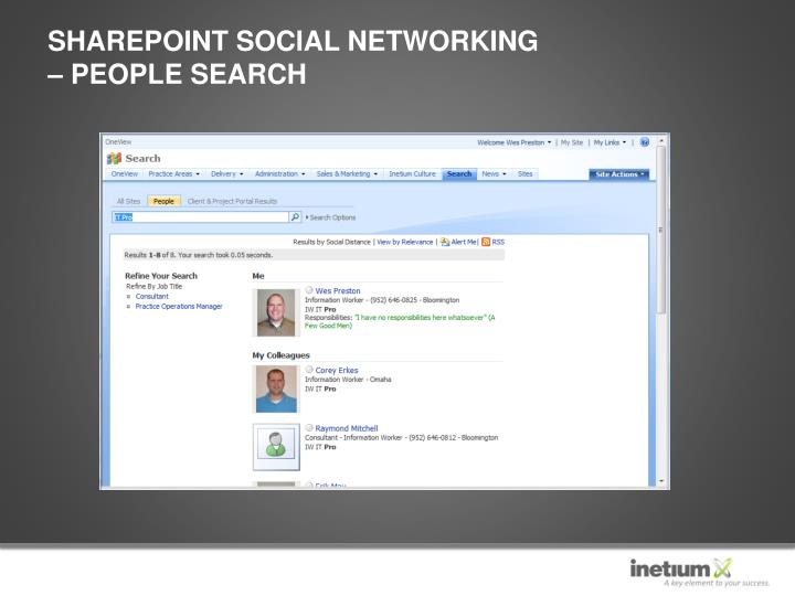 SharePoint Social Networking