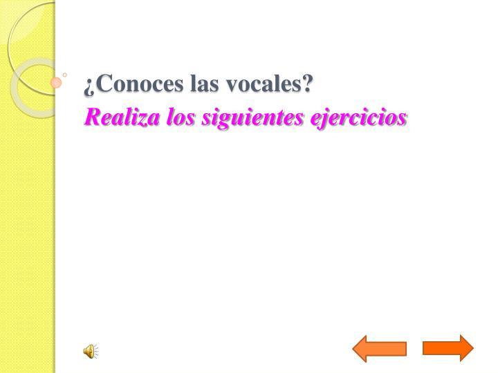 ¿Conoces las vocales?