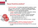kaj je finan na analiza