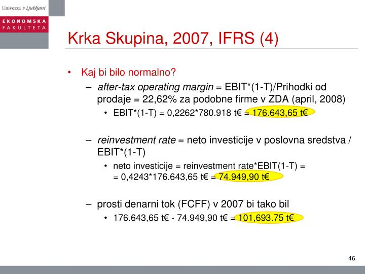 Krka Skupina, 2007, IFRS (4)