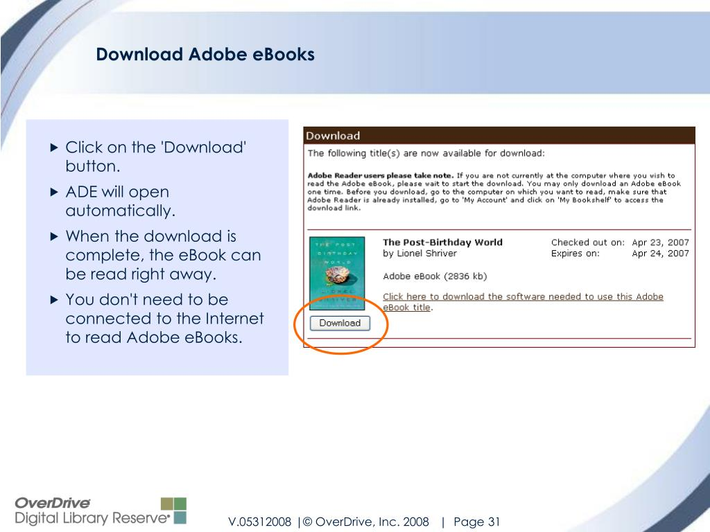 Download Adobe eBooks